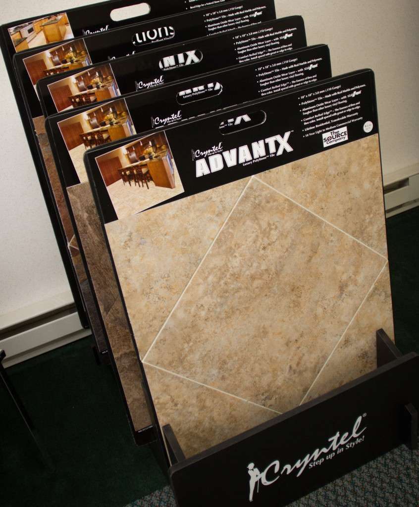 Showroom laminate samples