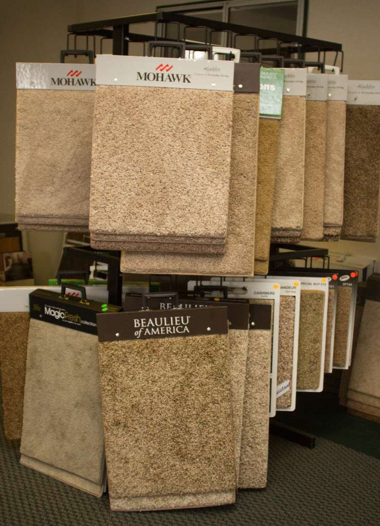 Showroom Carpet Samples