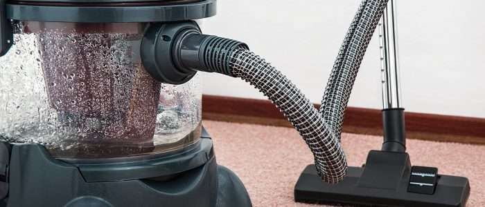Vacuum filled with water protecting your carpet
